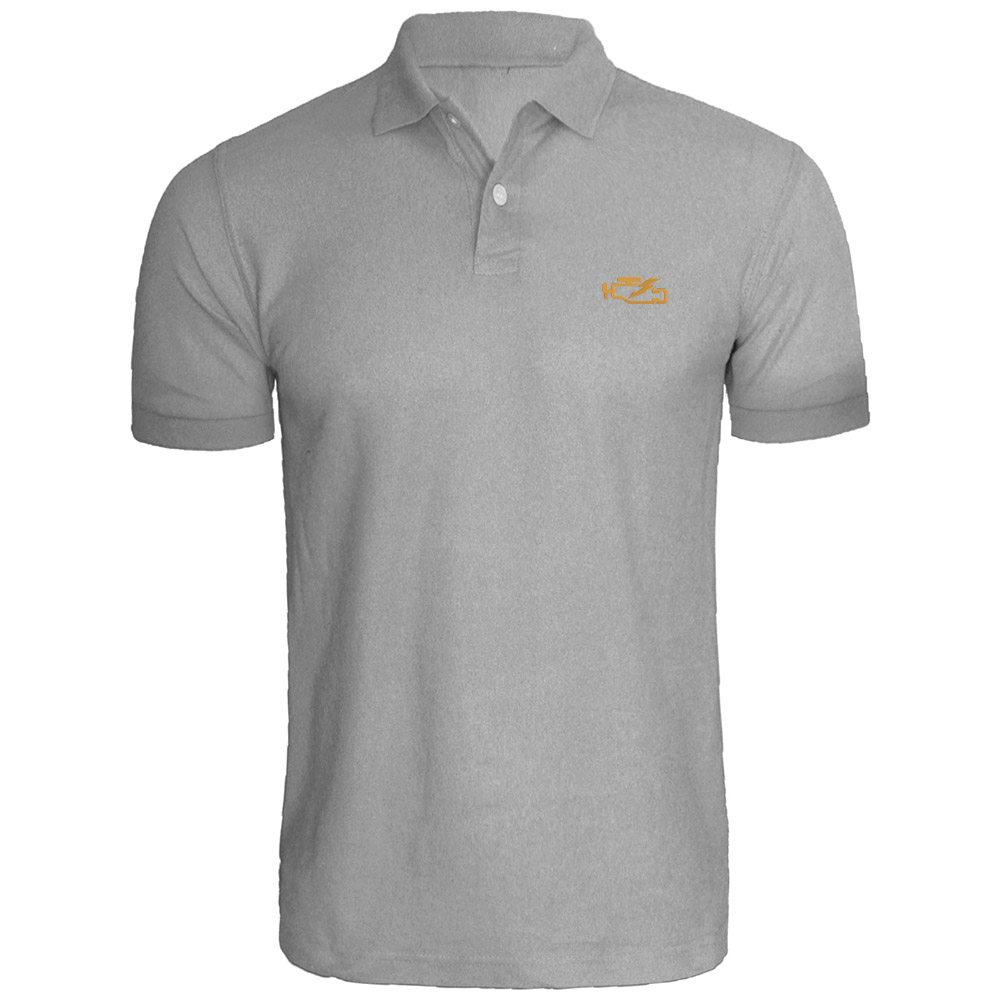 Mens Check Engine Light Embroidered Polo Shirts Men Shirts In Polo