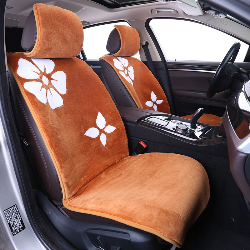 Design Your Own Car Universal Artificial Fur Polyester Black Red