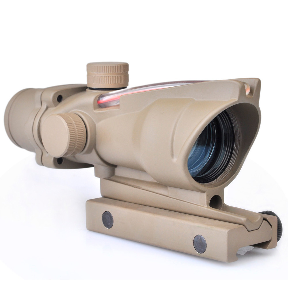 WIPSON Aim Optical Sight ACOG Type 1X32 Red Dot Sight Scope with Illumination Source Fiber with 22mm Mount Airsoft Riflescope wipson aim optical sight 2x42 red green dot rifle lights with 2x magnification weapon light for hunting collimating sight