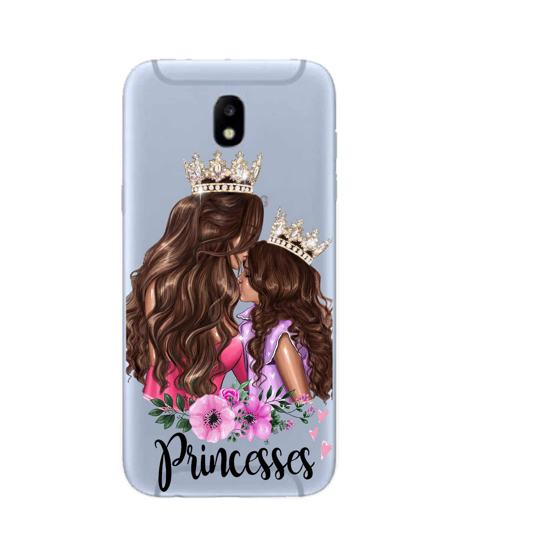 La princesa de la Reina Madre bebé chica teléfono caso estuche para Samsung Galaxy A10 A20 A30 A40 A50 A70 M10 M20 Coque fundas de silicona suave