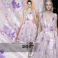 French Exports High Quality Silk Lustrine Silk Fabric Rotten Pink Wedding Dress Jacquard Fabric