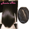 4*4 base de Seda pelucas llenas del cordón Recto Brasileño superior de seda del frente del cordón pelucas nudos Blanqueados llena del cordón pelucas de pelo humano para las mujeres negras