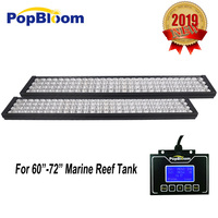 LED Light For Aquarium Tank Popbloom Programmable Timer 4 Dimmable Channels LED Lamp For SPS LPS Marine Reef Aqua Tank