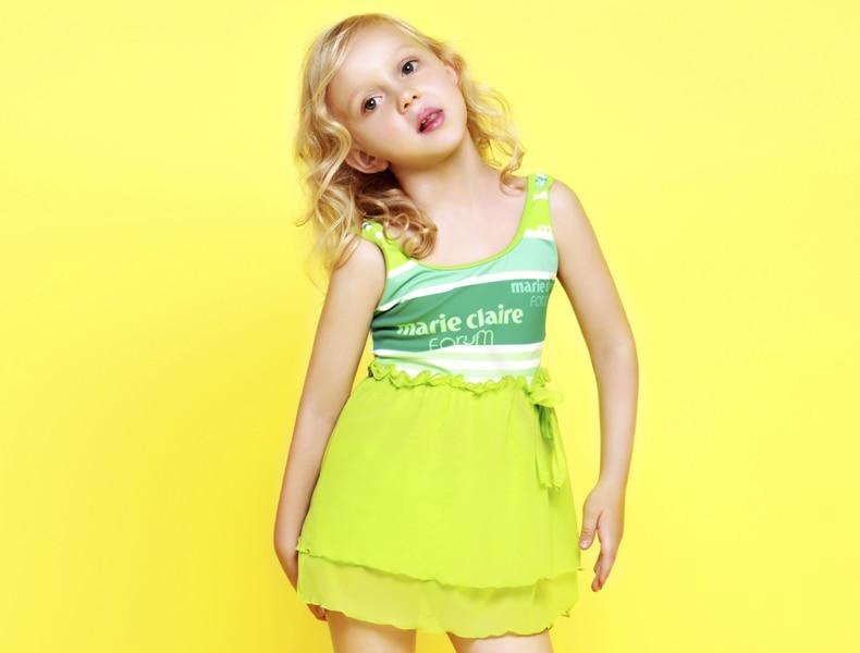 Princess Skirt Cute Toddler Frozen Children Swimwear For Girls Two Piece Junior Swimsuit Kids -4929