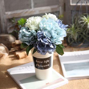 Один Букет Искусственный Пион Букет цветок Свадебный Гортензия домашний сад Декор 5 веток девять цветов высокое качество яркий Декор