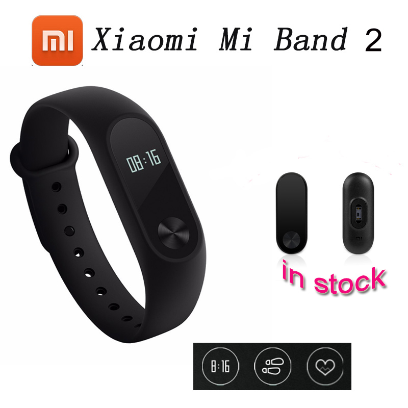 100% Original Xiaomi Mi Band 2 Smart Fitness Bracelet Watch Wristband Miband OLED Touchpad Sleep Monitor Heart Rate цена