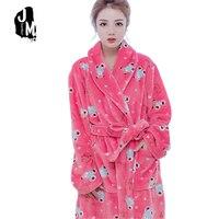 جميل wanr الشتاء الربيع الفانيلا حمام رداء المرأة الوردي الأحمر الأزهار ثوب طويل رداء صالة homewear c رياضه للسيدات