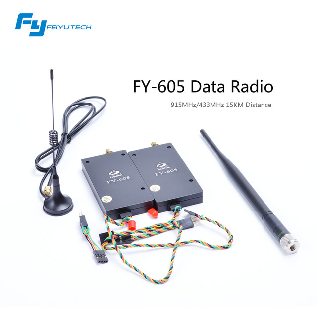 Venda Direta de Link de Dados Para Aviões de Rc Fpv Feiyu Osd FY-605 Radio Link 433 & 915 mhz 15Km Distância