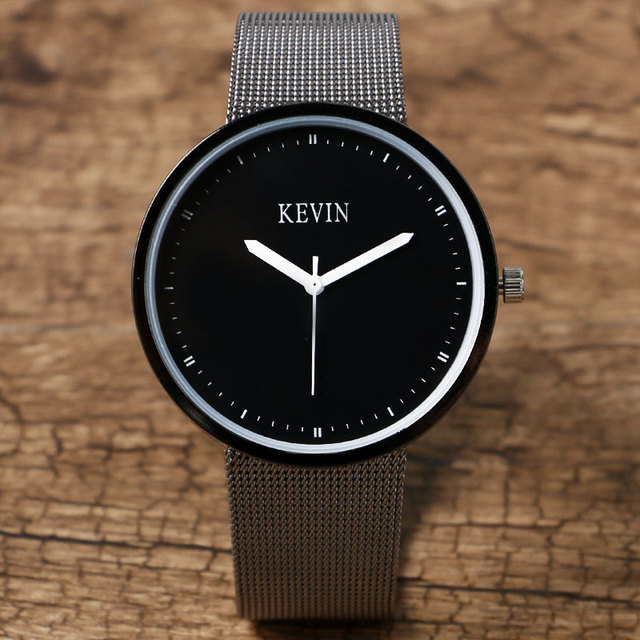9d52f54593d8 Venta caliente marca Kevin reloj hombres de acero inoxidable relojes para  hombre reloj casual regalo w22050