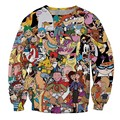 New Fashion Mens/Womens 90s Cartoon 3D Hoodies Funny 3D Print Casual Sweatshirt