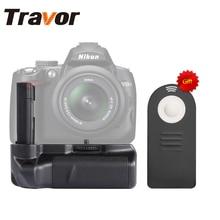 TRAVOR вертикальный Батарейная ручка держатель для Nikon D40 D40x D60 D3000 D5000 DSLR Камера + универсальный пульт дистанционного управления в качестве подарка для бесплатная