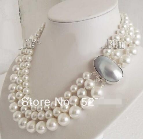 e688ea411801d Hot sale new Style >>>Gradually Shell Pearl Mabe Pearl Clasp 3 Rows ...