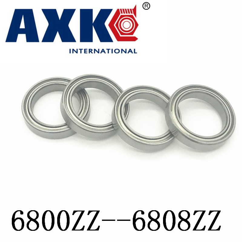 10pcs/Lot <font><b>6800ZZ</b></font> 6801ZZ 6802ZZ 6803ZZ 6804ZZ 6805ZZ 6806ZZ 6807ZZ 6808ZZ Metal Shielded Thin Wall Deep Groove Ball Bearing ABEC1 image