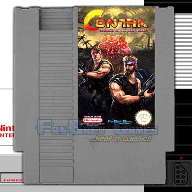Free Shipping Contra Revenge Of The Red Falcon <font><b>72</b></font> <font><b>Pins</b></font> <font><b>Game</b></font> <font><b>Card</b></font> For 8 Bit <font><b>Game</b></font> Player image