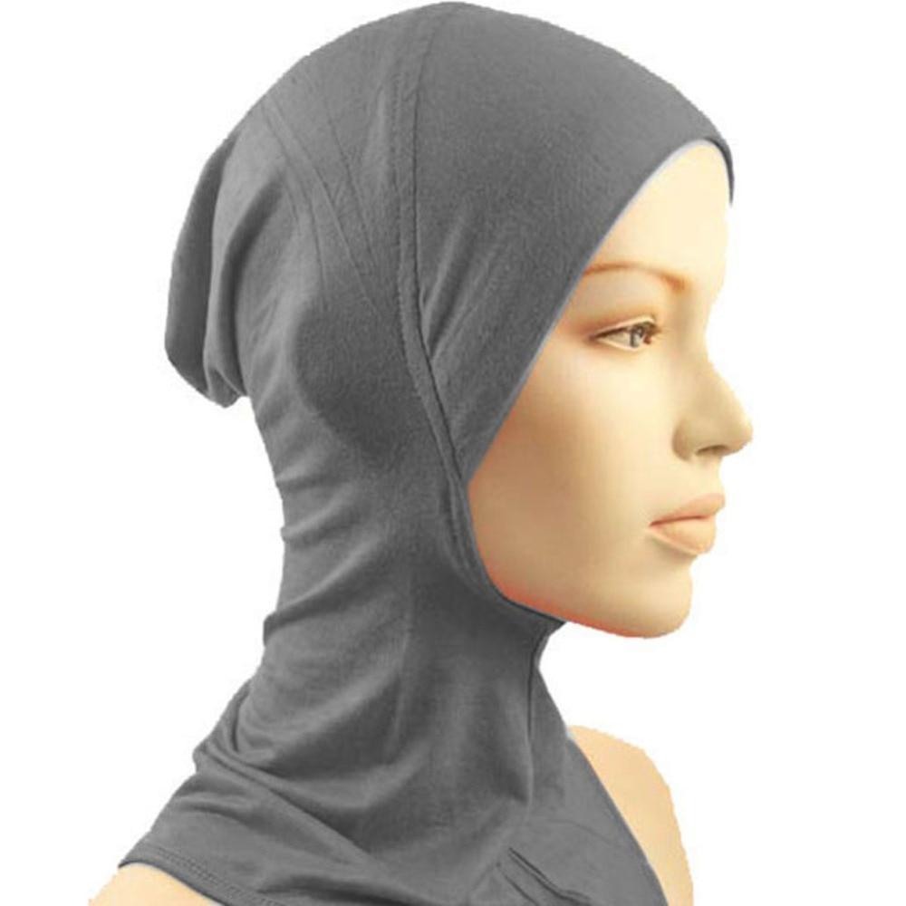 Hot Bone Bonnet Ninja Inner Hijabs Under Hat Cap Women Muslim Islamic Wrap Headscarf Neck Full Cover Scarf 14 Colors Z1