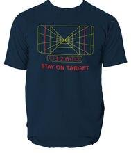 MENS STAR WARS STAY ON TARGET T-SHIRT DARTH VADER YODA ALL SIZES FIVE COLOURS Free shipping Print T Shirt Mens Short Sleeve Hot