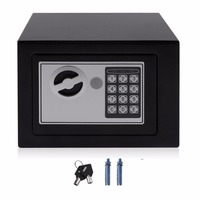 4.6L Strongbox Solid Steel Electronic Safe Box With Digital Keypad Lock Strongbox Mini Lockable Money Cash Jewelry Storage Box