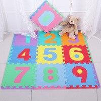HziriP 10Pcs Lot Baby Puzzle Carpet Play Mats Floor Children Foam Carpet Mosaic Floor Mats Colorful