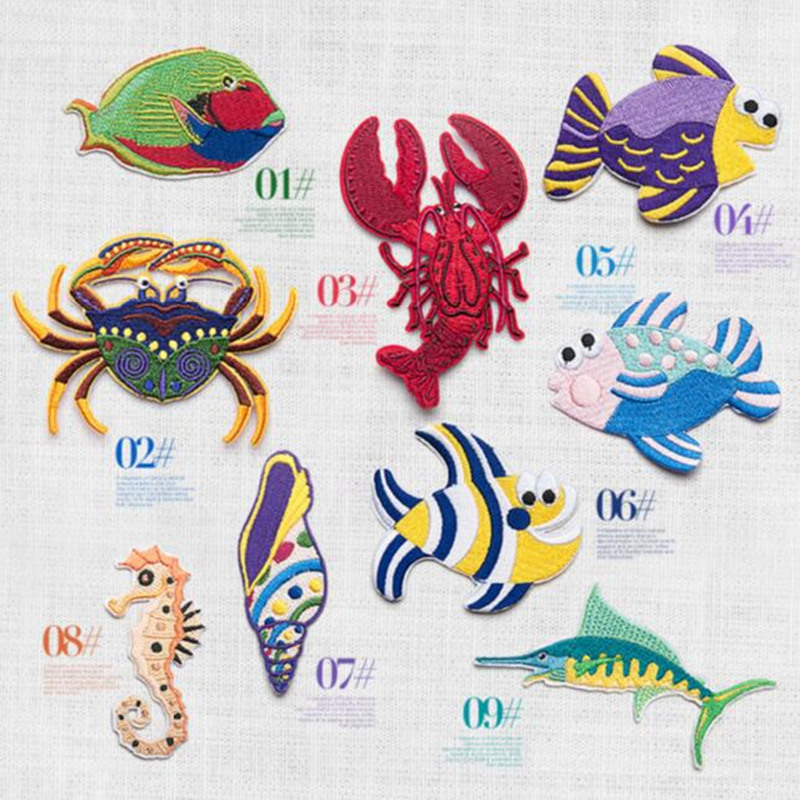 Diy Handmade Embroidered Patch: Fish Iron On Patches For Clothes Embroidered Patch Custom