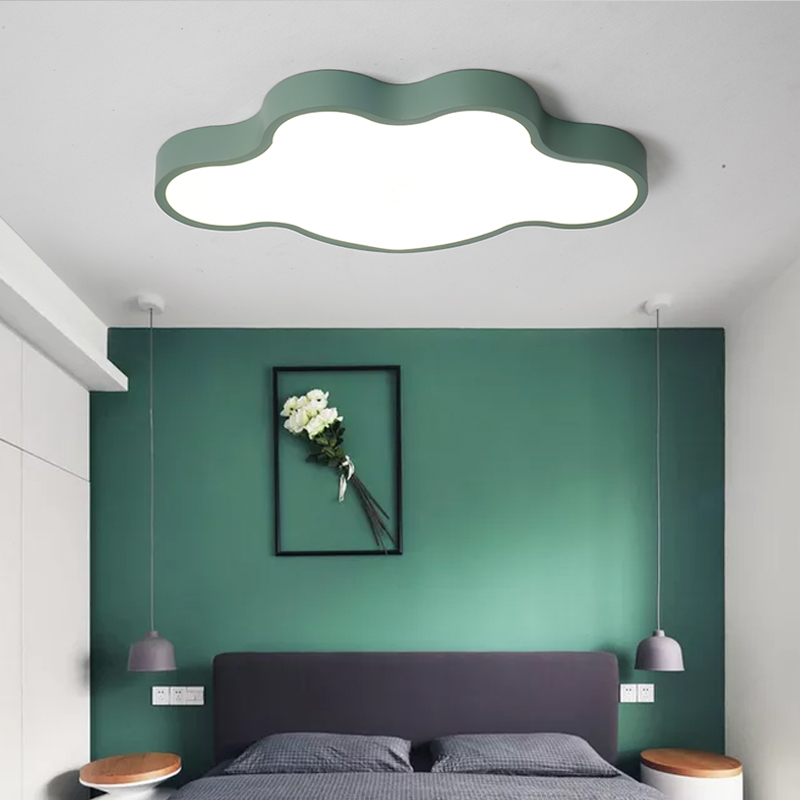 Modern colorful LED ceiling light mounted surface lights with remote controller smart children kids room decoration