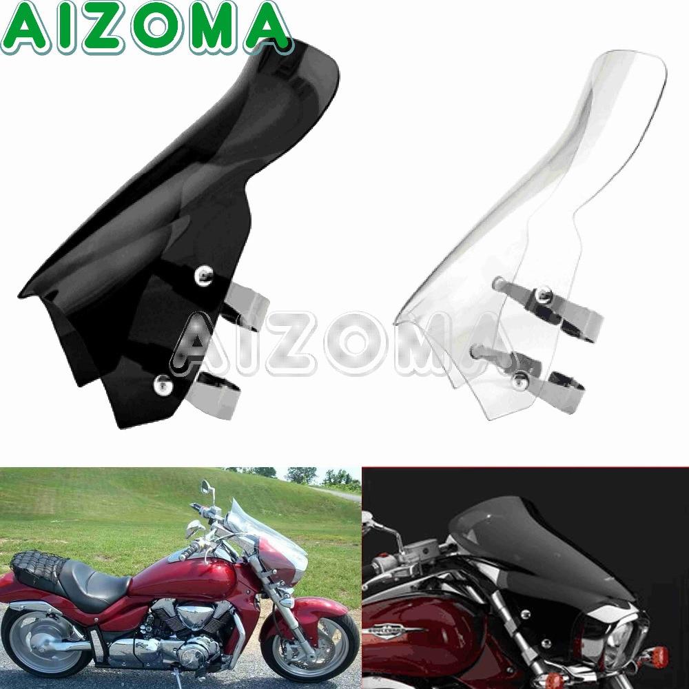 Motorcycle Windshield Windscreens W// Bracket For Suzuki M109R M50 M90 Boulevard