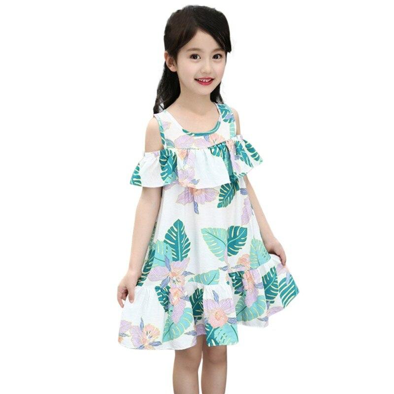 80d86858378f6ce Платье для маленьких девочек летние пляжные платья с цветочным рисунком для девочек  Детские платья без бретелек