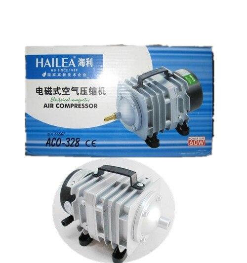 EMS DHL Free Shipping NEW Hailea ACO-328 Aquarium Air Compressor Pump 70L/min 220V 60W 0.025 Mpa