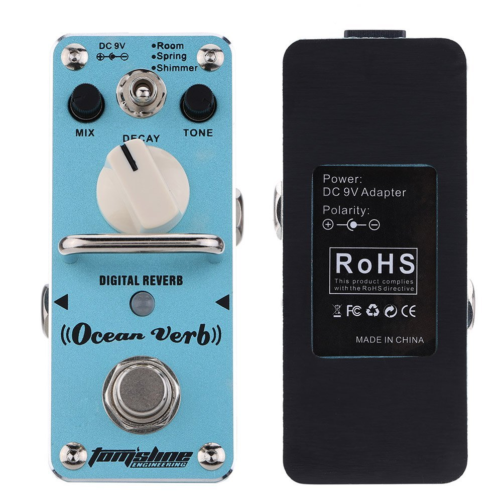 New AROMA AOV-3 Ocean Verb Digital Reverb Electric Guitar Effect Pedal Mini Single Effect with True Bypass dobson c french verb handbook