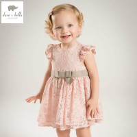 DB5044 Dave Bella Summer Baby Girls Princess Dress Bow Dress Floral Dress Baby Wedding Dress Kids