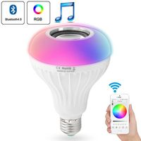 Smart RGB Wireless Bluetooth Speaker Bulb Music Playing E27 LED Lighting With Remote Control