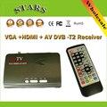 1080 P Full HD Mpeg 4 H.264 Цифрового HDMI DVB-T T2 TV Box VGA/AV CVBS TV Преобразователь Тюнер Приемник С Пультом Дистанционного Управления
