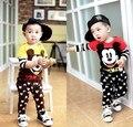 Nova chegada da primavera outono conjuntos de roupas de bebê meninos dos desenhos animados tops + pants Trajes terno infantil para meninas moda infantil treino