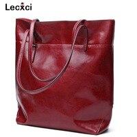 Lecxci Womens Leather Tote Bag Shoulder Bags Handbags Purse For Ladies