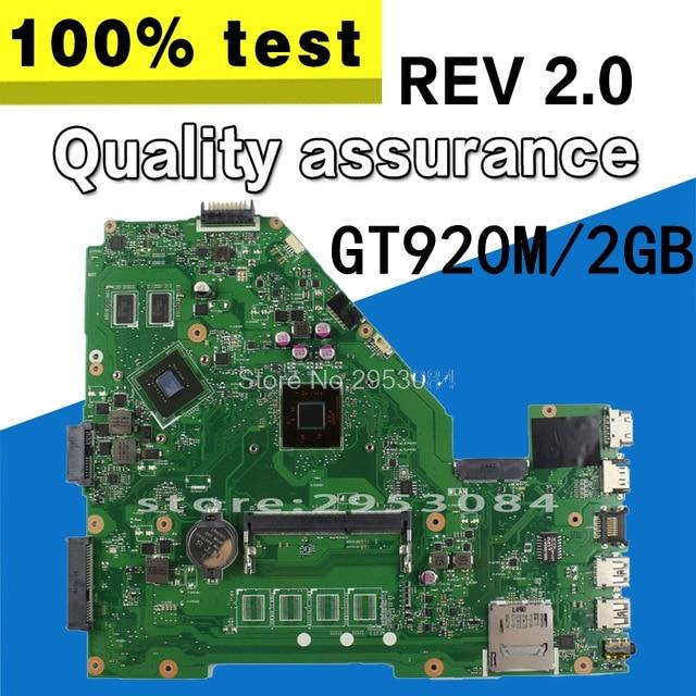 X550MD REV 2.0 X550MJ GT920M 2GB mainboard for ASUS X550M X552M Y582M X550MD X550MJ X552M Motherboard N2840 CPU 2.167 GHZ цена