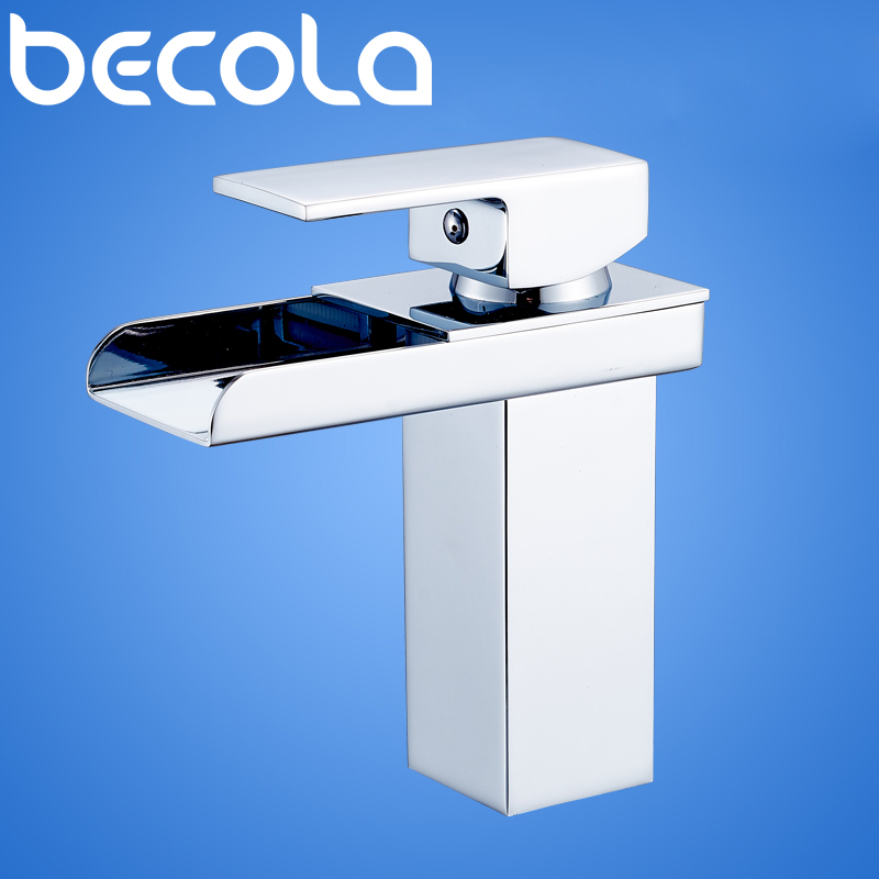 BECOLA Brass Torneira Basin Faucet Waterfall Faucet Bathroom Faucet Water Tap Bathroom Basin Mixer Faucet Free shipping LT-501 free shipping brass copper basin faucet basin mixer bamboo faucet bathroom tap