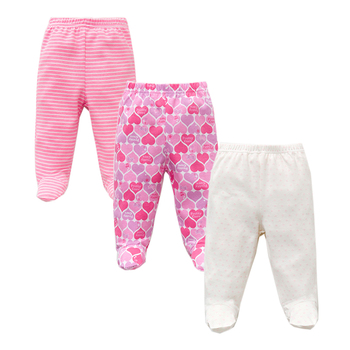Baby's Cotton Pants with Elastic Waist 3 pcs Set 3