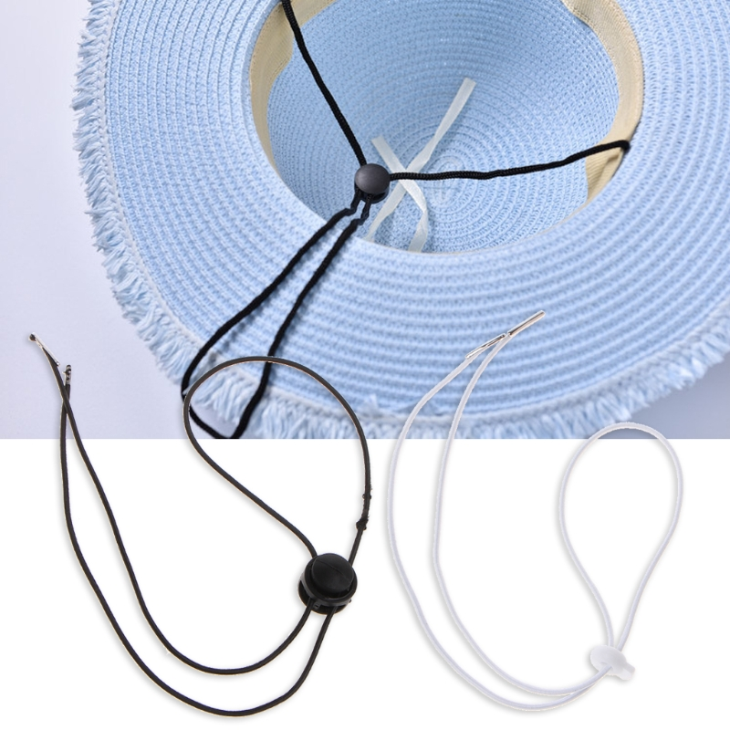 10PCS Flexible Removable Elastic Hat Chin Cord Straps Cord Fasteners Adjustable