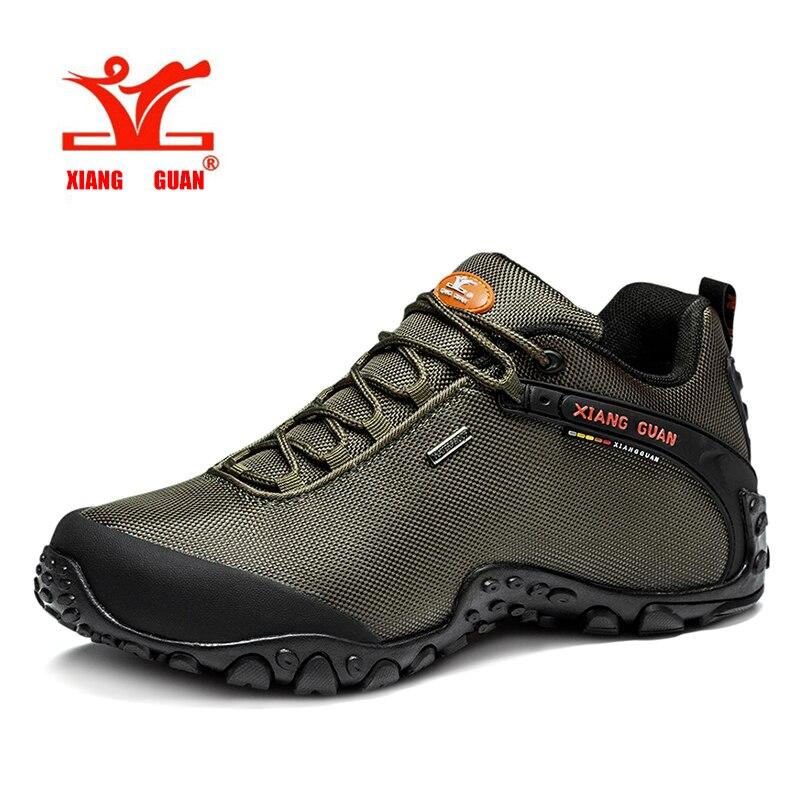 Hotsell XIANG GUAN Man Outdoor Hiking Shoes fishing Athletic Trekking Boots Women Climbing Walking Sneskers large SIZE EUR 36-48 2016 man women s brand hiking shoes climbing outdoor waterproof river trekking shoes