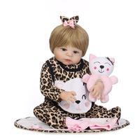 55 см Моделирование Reborn Baby Doll полный силиконовый корпус реалистичные куклы с тканью, сопровождать Игрушки для маленьких девочек подарок