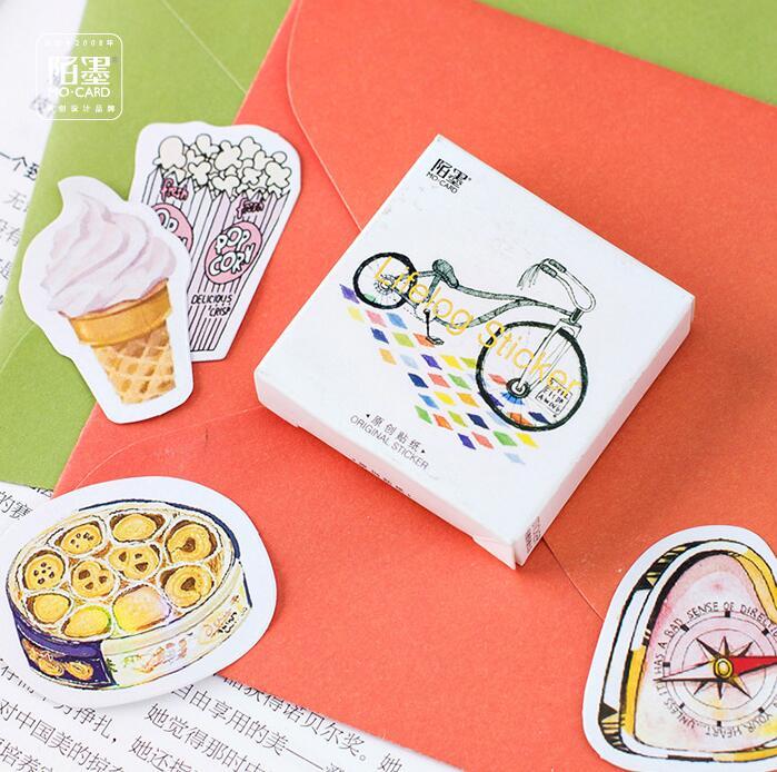 45 Pcs/pack Enjoy My Life Label Stickers Set Decorative Stationery Craft Stickers Scrapbooking DIY  Stick Label
