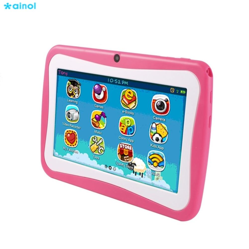 Ainol 7 Inch Quad Core Kids Children Tablet PC 8GB ROM Professional Learning Education Tablet Computer Android 4.4 EU/US/AU/UK ainol ax7 cpu mt8392 1gb ainol ax7 tablet phablet 7