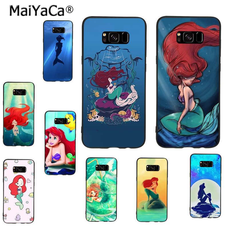 Maiyaca Ariel Sedikit Mermaid Baru Arrival Telepon Kasus Sangat Tipis untuk Samsung GALAXY S8plus S9plus S7 S6 Note8 Catatan 5 4 Kasus