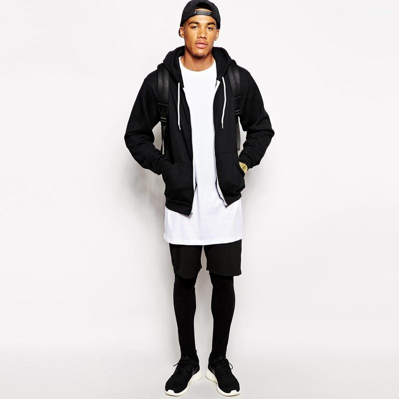 2018 Brand New Men's Clothing White long t shirt Hip hop StreetWear t-shirt Extra Long Length Tee Tops long line tshirt 3