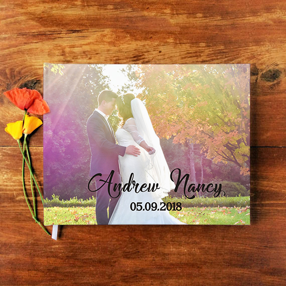 Personalized Guest Book Custom Wedding Photo Guest Book Mr And Mrs Wedding Album