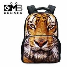 Große Tiger Rucksäcke Tier Filz Schule rucksack für Jugendliche Kühlen Bookbags für Studenten Mode Tag Pack für Männer