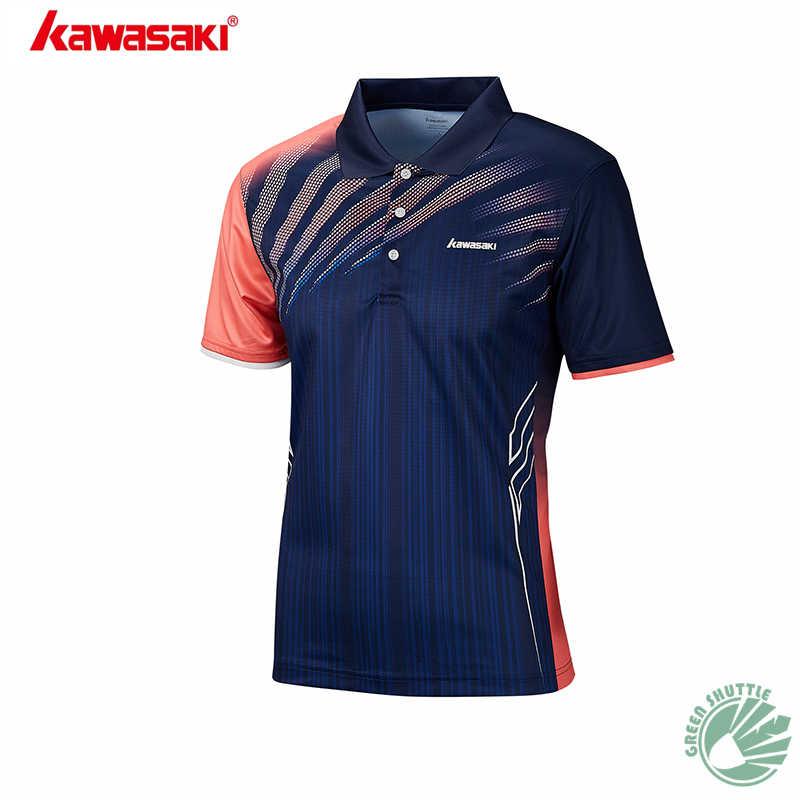 2019 Chegada Nova Kawasaki Camisas Unissex Com Função Colar Material de Badminton Roupas de Secagem Rápida Para O Amante