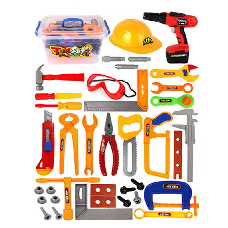 37Pcs/Set baby kids tools toy Repair tool Play House Toys Model For Early Learning Educational Toys Home Plastic Simulation Tool купить в Москве 2019