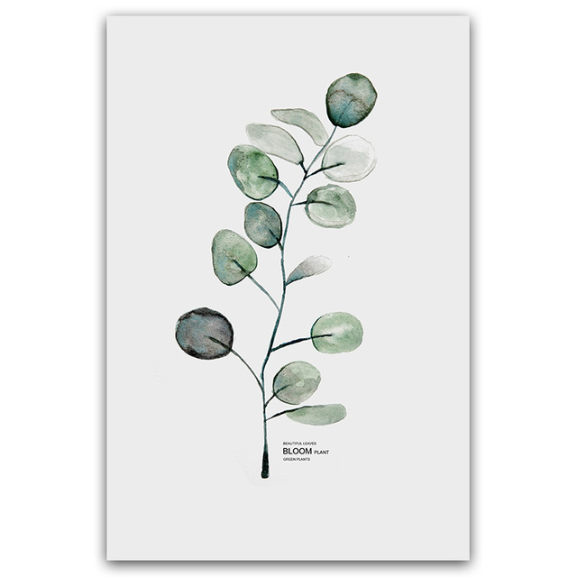HTB11eTIV3HqK1RjSZFgq6y7JXXaG Simple Watercolor Vase Green Plant Art Poster Wall Art Print Canvas Painting Picture Modern Home Living Room Decoration Custom