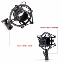 Professional 3.5mm Wired Condenser KTV Microphone Cardioid Pro Audio Studio Vocal Recording Mic KTV Karaoke+ Metal Shock Mount