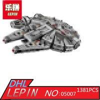 1381pcs Factory Sale Price Star Wars Model Building Blocks Millennium Falcon Figure Compatible LegoINGLYS LEPIN 05007